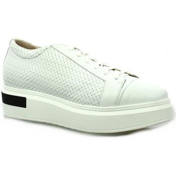 Chaussures Femme Derbies Benoite C Baskets cuir Blanc