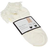 Accessoires Femme Chaussettes Leg Avenue Chaussettes Courtes - Acrylique - Anklet socks Venice lace top Ecru