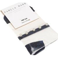 Sous-vêtements Femme Collants & bas Pamela Mann Bas socquettes - Coton - Sheer ankle socks Bleu marine