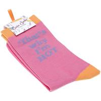 Accessoires Femme Chaussettes Ciccia Socks Chaussettes Mi-Hautes - Coton - PINK HOT SOCKS Rose