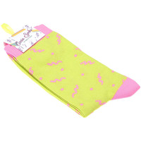 Accessoires Femme Chaussettes Ciccia Socks Chaussettes Mi-Hautes - Coton - PINK THUNDER SOCKS Vert fluo