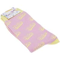 Accessoires Femme Chaussettes Ciccia Socks Chaussettes Mi-Hautes - Coton - PINK BABESOCKS Rose