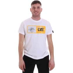 Vêtements Homme T-shirts manches courtes Caterpillar 35CC302 Blanc