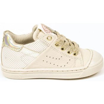 Chaussures Fille Baskets mode Stones and Bones Baskets cuir MILE blanc
