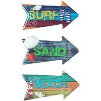 Maison & Déco Tableaux, toiles Signes Grimalt Surf Magnétique 3 Dif. Multicolor