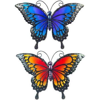 Maison & Déco Eclairages extérieurs Signes Grimalt Papillon Métal Avec Crystal Relief Ensemble De 2U Multicolor