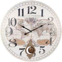 Maison & Déco Horloges Signes Grimalt 58 Horloge Mondiale Blanco