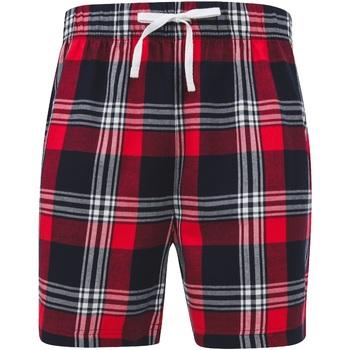 Vêtements Homme Shorts / Bermudas Skinni Fit SFM82 Rouge/bleu marine