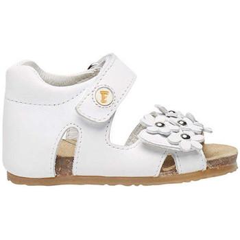 Chaussures Fille Sandales et Nu-pieds Falcotto SABISA-sandale avec fleurs appliquées blanc