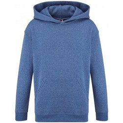 Vêtements Enfant Sweats Fruit Of The Loom SS14B Bleu roi chiné