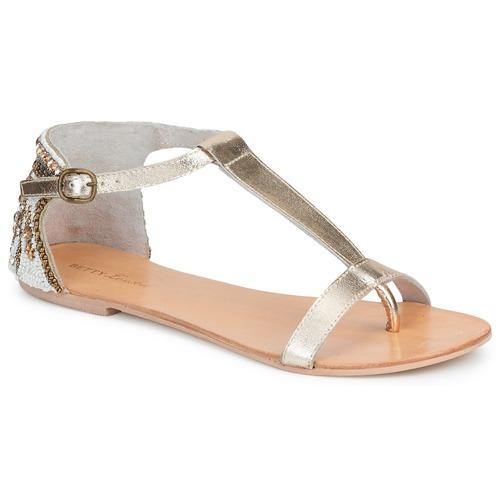 Chaussures Femme Sandales et Nu-pieds Betty London MICHOUNE Or