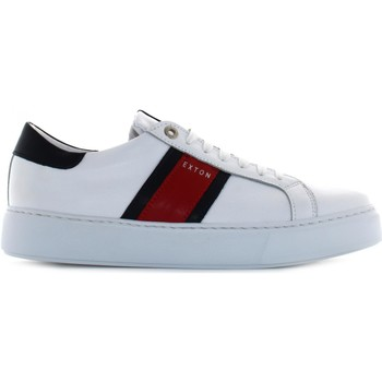 Chaussures Homme Baskets basses Exton 861 Bianco / blu
