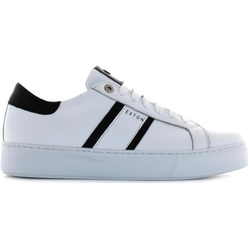 Chaussures Homme Baskets basses Exton 861 Bianco / nero