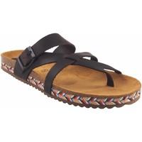 Chaussures Femme Tongs Interbios Sandale femme  7121-c marron Marron