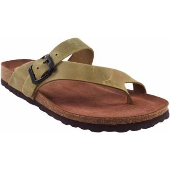 Chaussures Femme Tongs Interbios Sandale femme  7119 kaki Vert