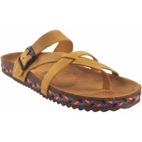 Chaussures Femme Tongs Interbios Sandale femme  7121-c moutarde Jaune