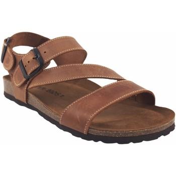 Chaussures Homme Sandales et Nu-pieds Interbios Sandale homme  9557 cuir Marron