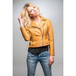 Vêtements Femme Vestes en cuir / synthétiques Rose Garden LAURIE LAMB CASTEL SPICY MUSTARD Jaune