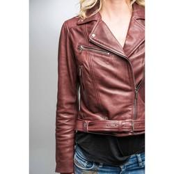 Vêtements Femme Vestes en cuir / synthétiques Rose Garden LAURIE LAMB CASTEL BURGUNDY Rouge