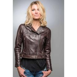 Vêtements Femme Vestes en cuir / synthétiques Rose Garden LAURIE LAMB CASTEL BROWN Marron
