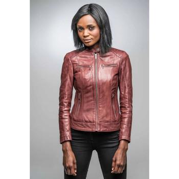Vêtements Femme Vestes en cuir / synthétiques Rose Garden JODY LAMB CASTEL BURGUNDY Rouge