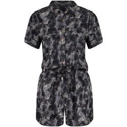 Vêtements Femme Combinaisons / Salopettes Deeluxe Combinaison MELINA Print Black Palm
