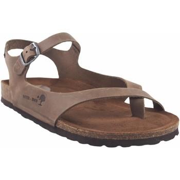 Chaussures Femme Jmksport & ME Interbios Sandale femme  7164 taupe Marron