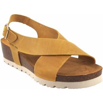 Chaussures Femme Sandales et Nu-pieds Interbios Sandale femme  5656 moutarde Jaune
