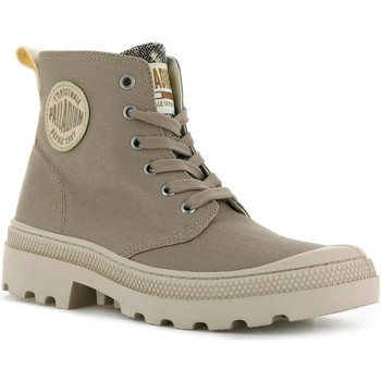 Chaussures Femme Baskets mode Palladium Manufacture PAMPA AVENUE HIGH CANVAS TAUPE