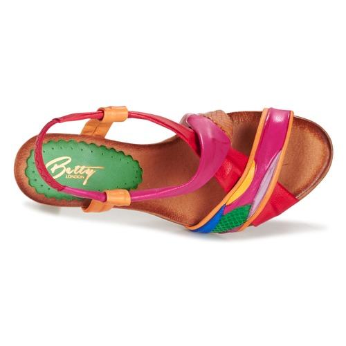 pieds Multicolore London Sandales Betty Nu Femme Pouloi Et QohrdxBstC