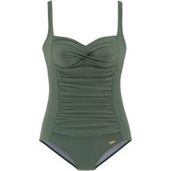 Vêtements Femme Maillots de bain 1 pièce Lascana Maillot de bain amincissant 1 pièce TK-5 kaki bonnets B à E Kaki