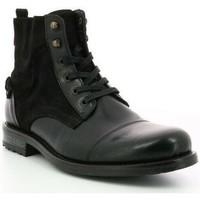 Chaussures Homme Boots Hush puppies Bottines  Gab cuir Noir
