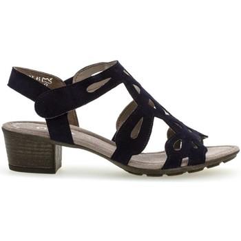Chaussures Femme Stones and Bones Gabor Sandales à talon cuir talon  décroché Noir