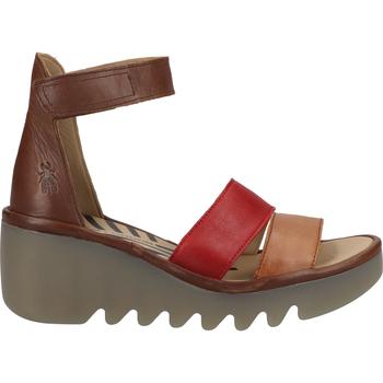 Chaussures Femme Polo Ralph Lauren Fly London Sandales Braun/Rot