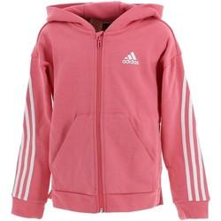 Vêtements Fille Sweats adidas Originals 3s rse fz cap sweat g Rose