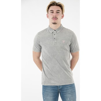 Vêtements Homme Polos manches courtes Guess rayner f93e delicate grey multi gris