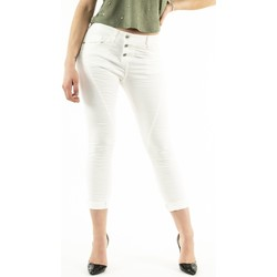 Vêtements Femme Jeans 3/4 & 7/8 Please p78a 1136 bianco grezzo blanc