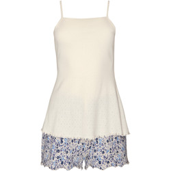 Vêtements Femme Pyjamas / Chemises de nuit Lisca Pyjama short débardeur Limitless  Cheek Bleu