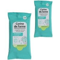 Beauté Produits bains Corine De Farme Lot de 2 paquets de 10 Lingettes Intimes Fraîcheur Autres