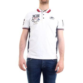 Vêtements Homme Polos manches courtes Aeronautica Militare 211PO1557P199 blanc
