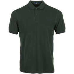 Vêtements Homme Polos manches courtes Fred Perry Twin Tipped Shirt vert
