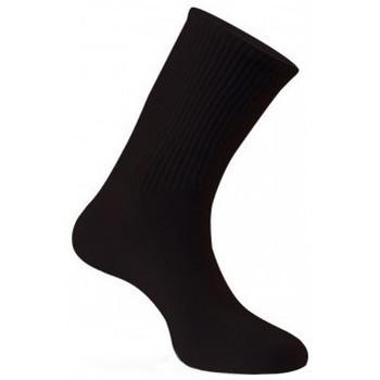 Accessoires Femme Chaussettes Kindy Mi-chaussettes pur coton spéciales diabétiques Femme Noir