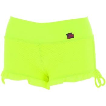 Vêtements Femme Shorts / Bermudas Culture Sud Volanty jaune short ete Jaune fluorescent