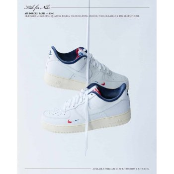 Chaussures Baskets basses Nike Air Force 1 Low x Kith Paris White/Red-Navy