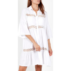 Vêtements Femme Paréos Admas Tunique estivale manches trois quarts chemise Blanc