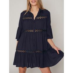 Vêtements Femme Paréos Admas Tunique estivale manches trois quarts chemise Bleu Marine