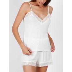 Vêtements Femme Pyjamas / Chemises de nuit Admas Pyjama short débardeur Lace Night gris Gris