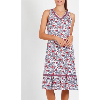 Vêtements Femme Pyjamas / Chemises de nuit Admas Chemise de nuit sans manches Blue And Red bleu Bleu