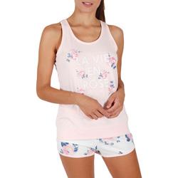 Vêtements Femme Pyjamas / Chemises de nuit Admas Pyjama short débardeur La Vie En Rose Rose