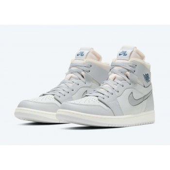 Chaussures Baskets montantes Nike Air Jordan 1 Zoom Confort London Photon Dust/Light Smoke Grey-Grey Fog